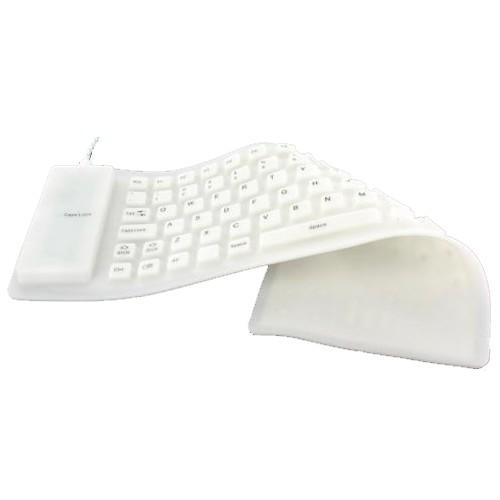 Flexible USB Keyboard White