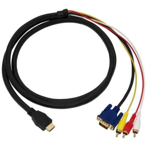 HDMI to VGA + RCA Cable 1.8 Meter