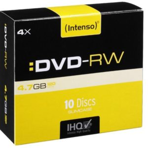 Intenso DVD-RW 4,7 GB 4x Speed - 10pcs Slim Case