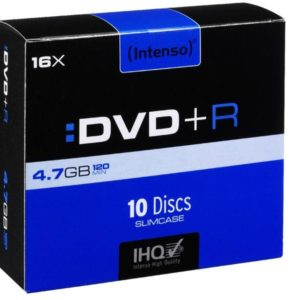 Intenso DVD+R 4,7 GB 16x Speed - 10pcs Slim Case