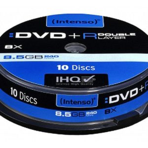 Intenso DVD+R 8,5 GB DL Double Layer 8x Speed - 10pcs Cake Box