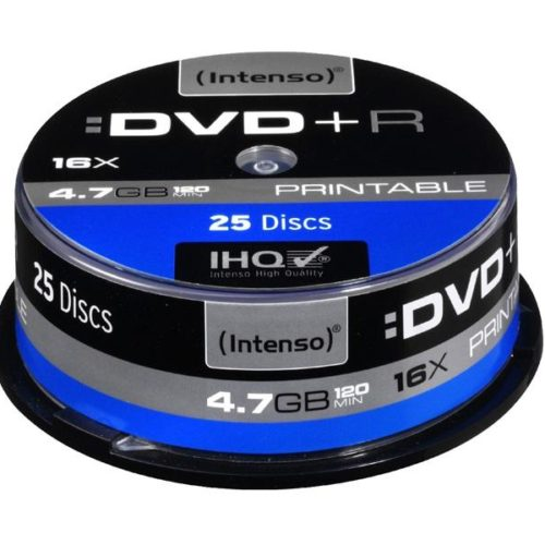 Intenso Printable DVD+R 4,7 GB 16x Speed - 25pcs Cake Box
