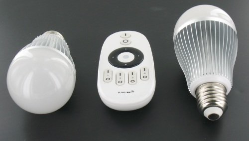 LED Lamp Set 2x 6 Watt with RF Remote Control