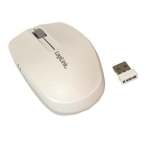 LogiLink Mouse Optical Wireless 2.4 GHz White (ID0115)