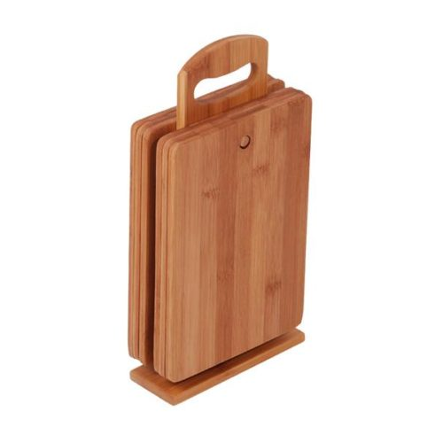 MK Bamboo DIJON - Cutting Board with Holder (6-pcs)