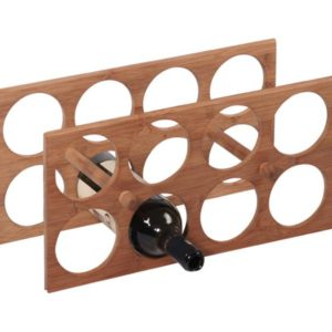 MK Bamboo MILANO - Wine Rack for 8 Bottles