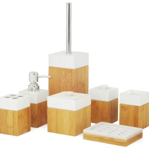 MK Bamboo PARIS - Bamboo Bath Accessoire Set (7-pcs)