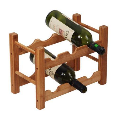 MK Bamboo ROMA - 6pcs wine rack