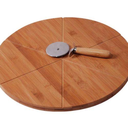 MK Bamboo VENEZIA - Pizza Board with Cutter