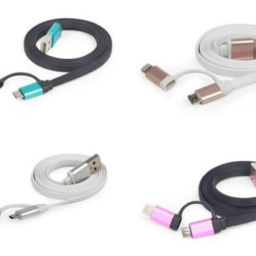 Maxxter 2in1 Charging Cable MicroUSB & Apple Lightning 1m, 24 pcs box