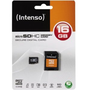 MicroSDHC 16GB Intenso +Adapter CL4 Blister