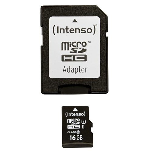 MicroSDHC 16GB Intenso Premium CL10 UHS-I +Adapter Blister