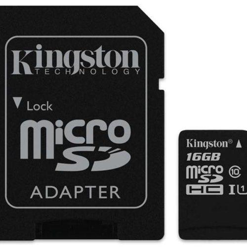 MicroSDHC 16GB Kingston CL10 UHS-I Blister