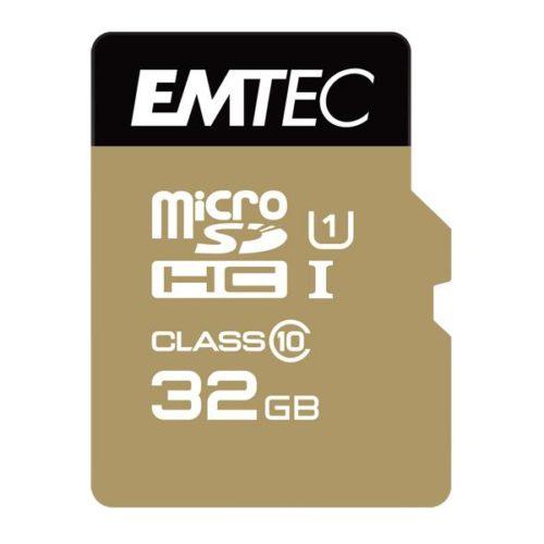 MicroSDHC 32GB EMTEC +Adapter CL10 Gold+ UHS-I 85MB