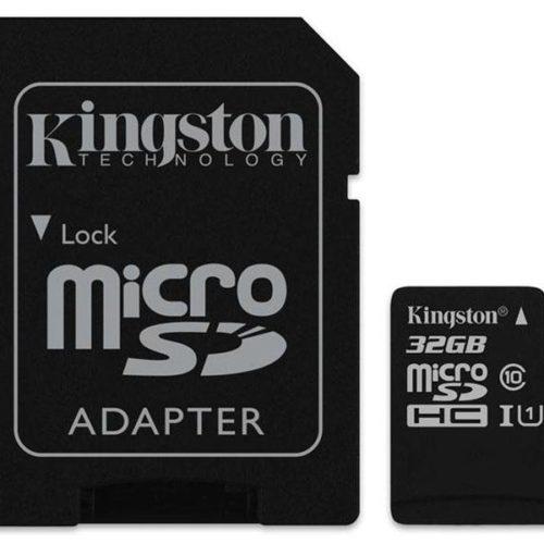 MicroSDHC 32GB Kingston CL10 UHS-I Blister
