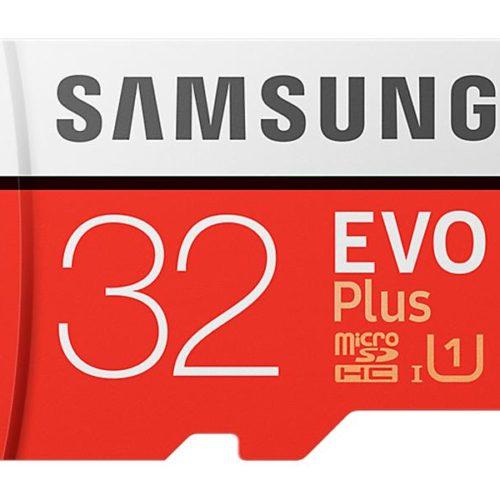 MicroSDHC 32GB Samsung +SDHC Adapter CL10 EVO Plus