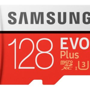 MicroSDXC 128GB Samsung +SDHC Adapter CL10 EVO Plus