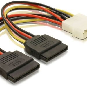 Molex to 2x SATA Power Cable