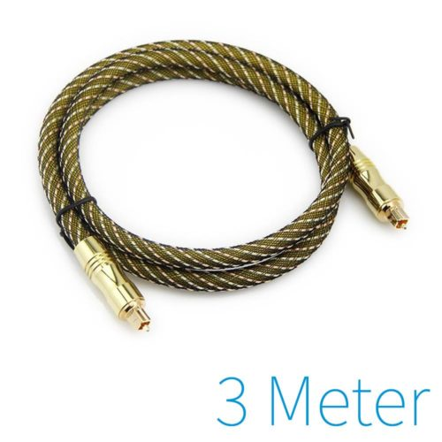 Optical cable gold plated 3m