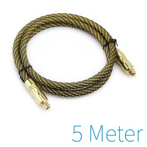 Optical cable gold plated 5m