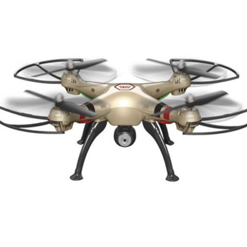Quad-Copter SYMA X8HC 2.4G 4-Channel with Gyro + Camera (Gold)