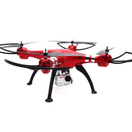 Quad-Copter SYMA X8HG 2.4G 4-Channel with Gyro + 8MP Camera (Red)