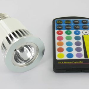 RGB 5 Watt LED Spot E27 with IR Remote Control