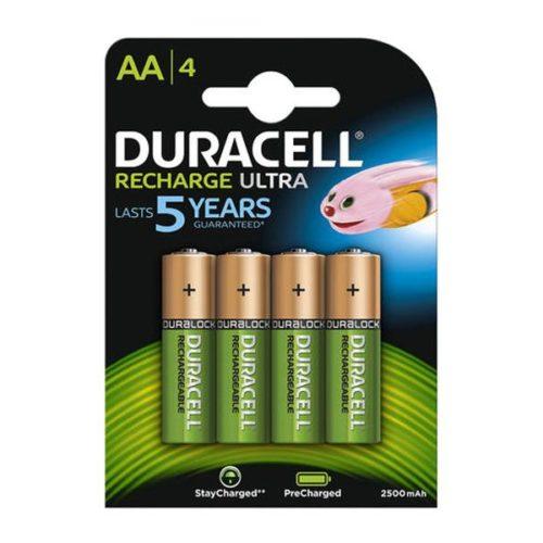 Rechargeable batteries Duracell AA Mignon 2500mAH (4 Pcs)