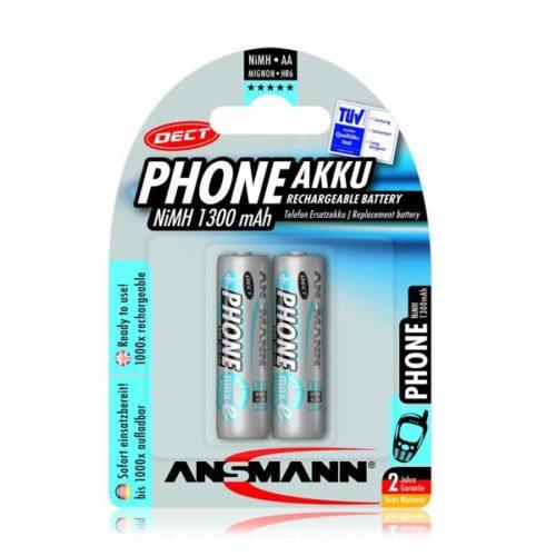 Rechargeable battery Ansmann AA Mignon 1300mAh PHONE DECT (2 Pcs)