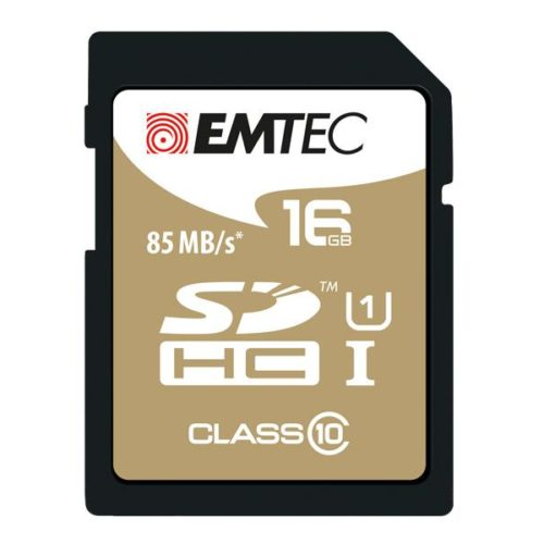 SDHC 16GB EMTEC CL10 Gold+ UHS-I 85MB