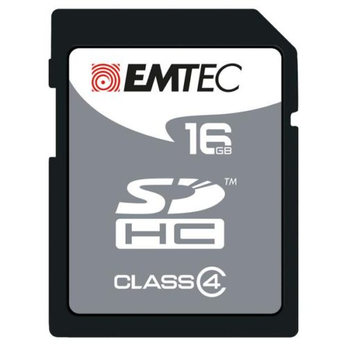 SDHC 16GB EMTEC CL4 Silver Memory Blister