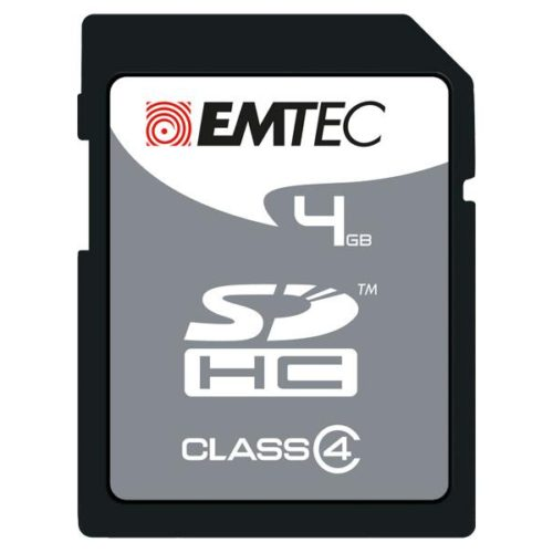 SDHC 4GB EMTEC CL4 Silver Memory Blister
