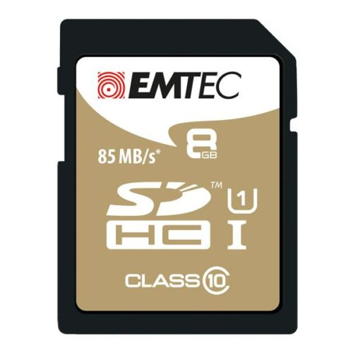 SDHC 8GB EMTEC CL10 Gold+ UHS-I 85MB