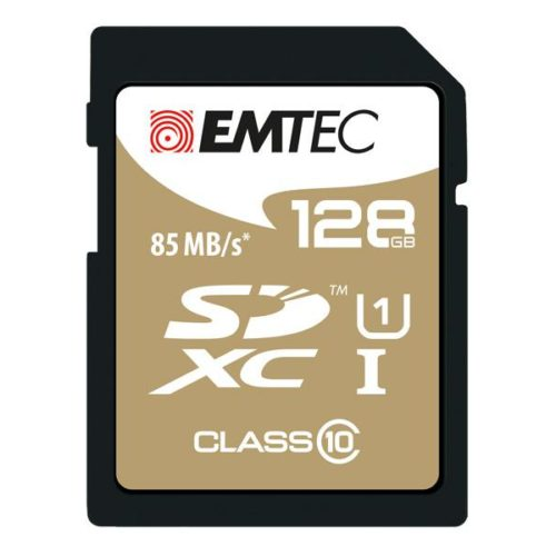SDXC 128GB EMTEC CL10 Gold+ UHS-I 85MB