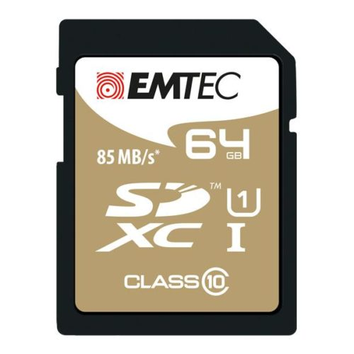 SDXC 64GB Emtec CL10 Gold+ UHS-I 85MB