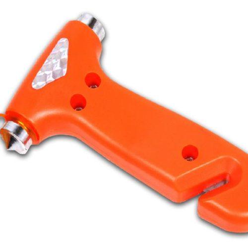 Safety hammer with seat belt cutter (Orange)