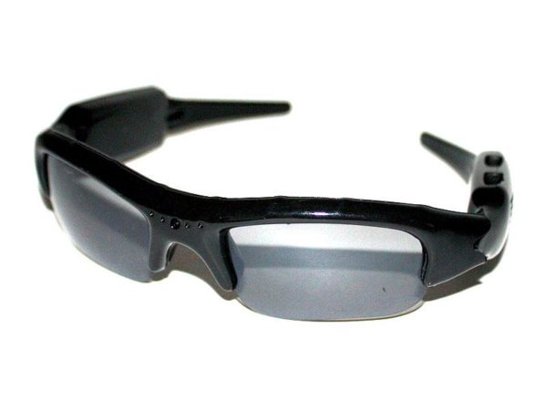 Sunglasses with camera and microphone (black)