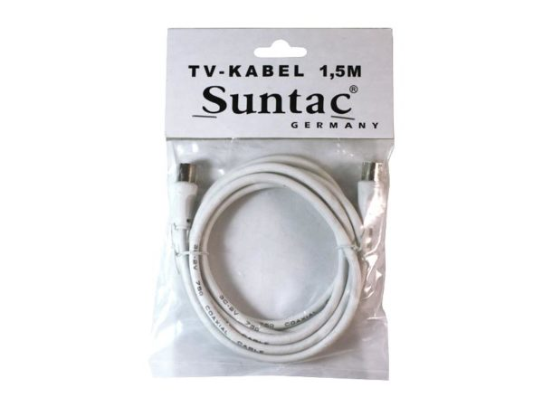 Suntac TV cable 1.5m - White
