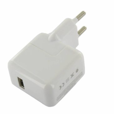 USB 2.1 Amp AC Charger White