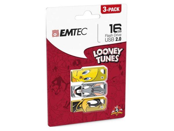 USB FlashDrive 16GB EMTEC Looney Tunes LT01 (3-PACK)