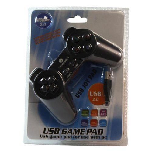 Vinyson USB Game Controller for PC Black