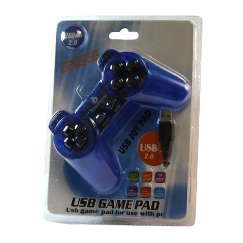 Vinyson USB Game Controller for PC Blue