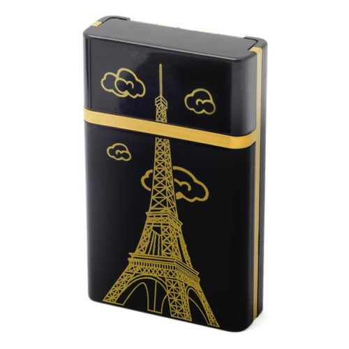 Case for 8 cigarettes with USB Lighter (Paris Eiffel Tower)