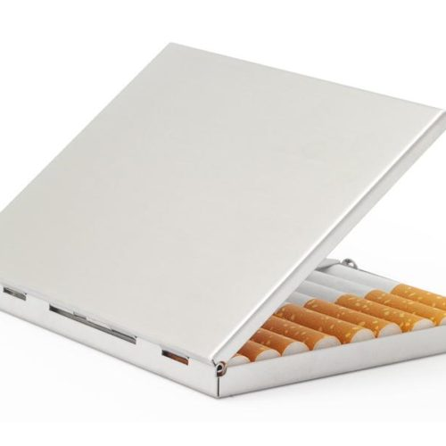 Case for 9 cigarettes - Metal (Silver Smooth #9)