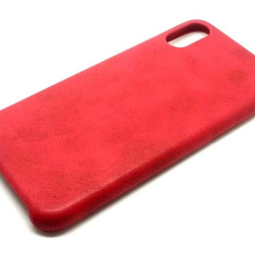 Protective Case Leather-Design for iPhone X, Red
