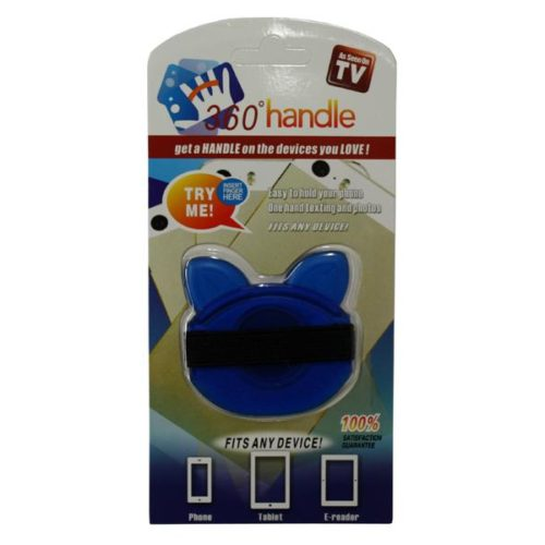 Smartphone and Tablet Holder - 360 handle Blue