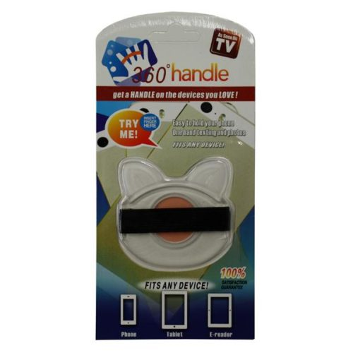 Smartphone and Tablet Holder - 360 handle Clear