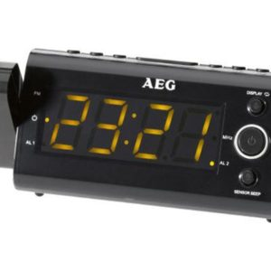 AEG Clock radio time projection and infrared sensor MRC 4121 P black