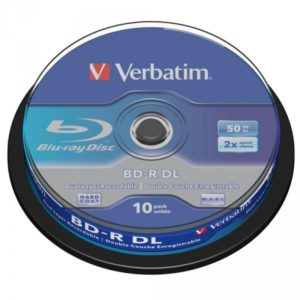 BD-R 50GB Verbatim 6x 10er Cakebox 43746