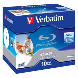 BD-R 50GB Verbatim 6x Inkjet white Full Surface 10er Jewel Case 43736